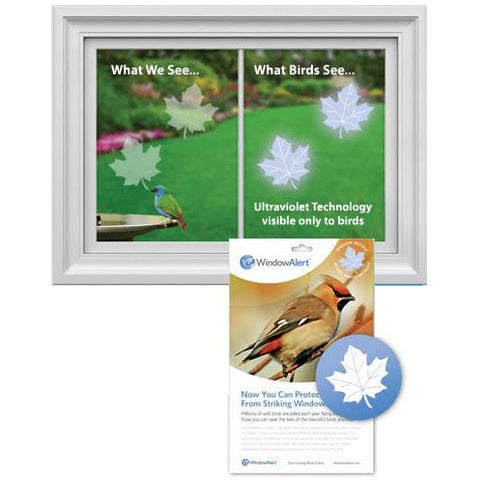 Maple Leaf Window Alert Window Decals Set of 8 Decals