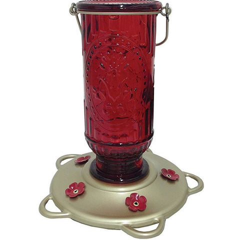 More Birds Red Vintage Hummingbird Feeder