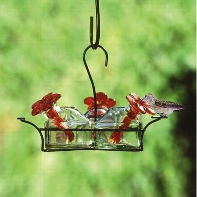 Image of Parasol Bouquet Classic 3 Hummingbird Feeder