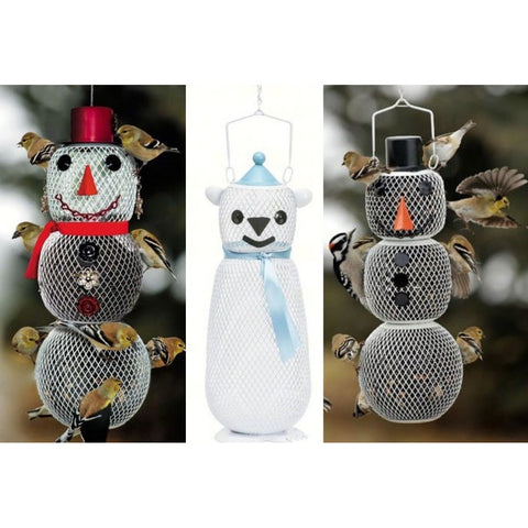 Snow People Bird Feeders
