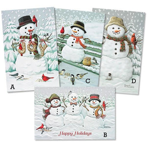 Pumpernickel Press Christmas Cards Assorted Splendid Snowmen