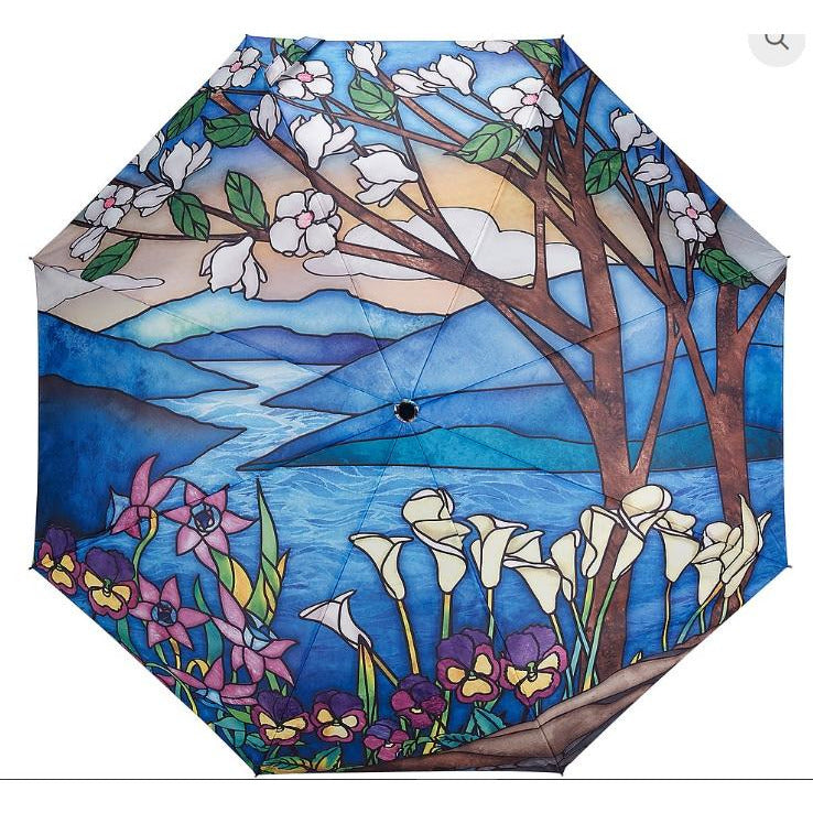 Umbrella Stained Glass Landscape by Galleria