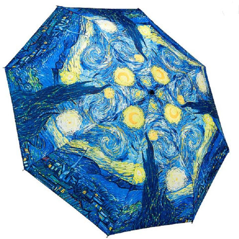 Umbrella Van Gogh Starry Night by Galleria