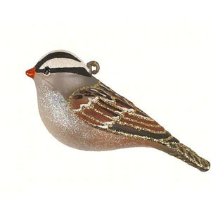 White-Crowned Sparrow Ornament from Cobane