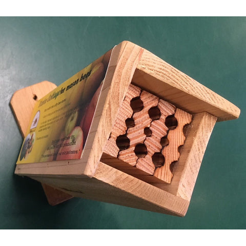 Mason Bee Wood Nest Starter Cottage