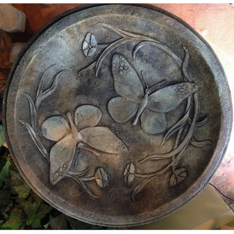 Image of Butterfly Bird Bath from Cast Art Studios