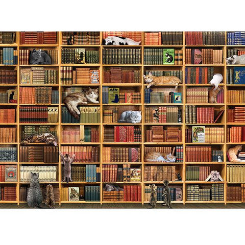 The Cat Library 1,000 Piece Puzzle
