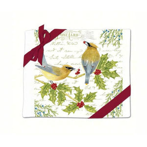 Cedar Waxwing Flour Sack Towel Set of 2
