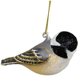 Turned Head Chickadee Ornament from Cobane