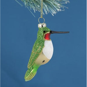 Ruby-Throated Hummingbird Ornament from Cobane