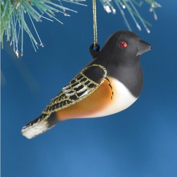 Rufous Sided Towhee Ornament from Cobane