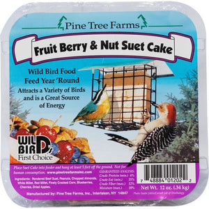 Pinetree Fruit, Berry, and Nut Suet Cake