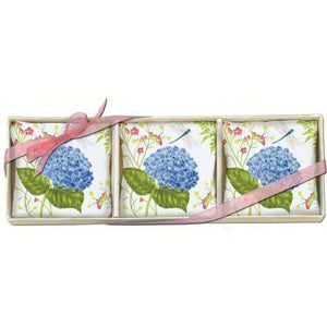 Hydrangea & Dragonfly Gift Boxed Lavender Sachets Set of 3
