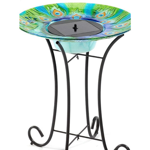 Argus Peacock Solar Bird Bath
