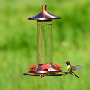 Brushed Copper Hummingbird Feeder