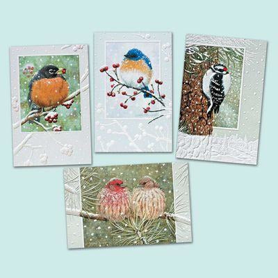 Pumpernickel Press Christmas Cards Assorted Winter Songbirds