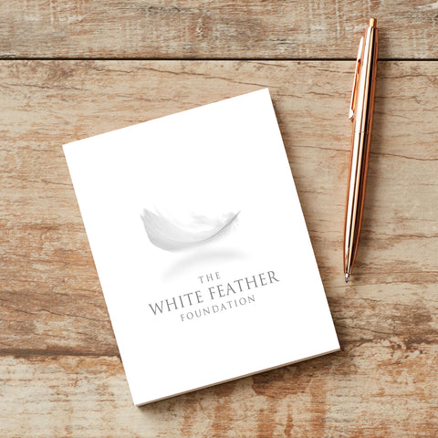 White Feather Note Pad