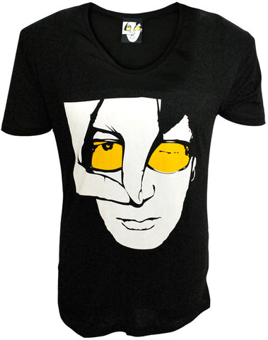 Julian Lennon (JL Logo) Black Scoop Neck T-Shirt