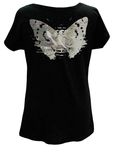 Julian Lennon (First Rose Back Print) Black T-Shirt