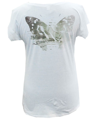 Julian Lennon (First Rose Back Print) White T-Shirt