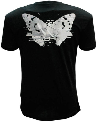 Julian Lennon (First Rose Back Print) Black Scoop Neck T-Shirt