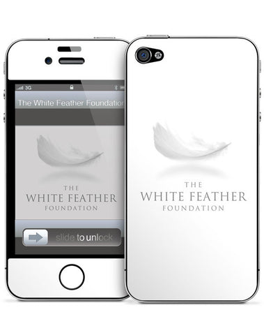 White Feather Foundation iPhone 4/4s Skin