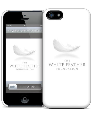 White Feather Foundation iPhone 5 Hard Case
