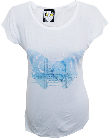 Julian Lennon (Ticking Of The Clock Blue) White T-Shirt