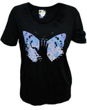 Julian Lennon (EC Album Cover) Black Scoop Neck T-Shirt