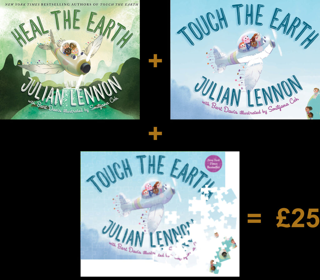 Touch The Earth & Heal The Earth Books + Touch The Earth 63 Piece Jigsaw Puzzle