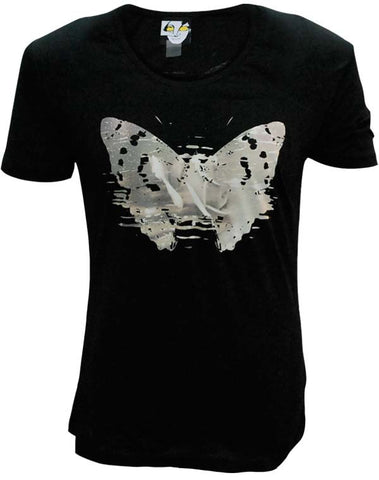 Julian Lennon (First Rose With Signature) Black Scoop Neck T-Shirt