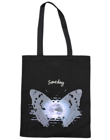 Julian Lennon (Someday Butterfly) Black Tote Bag