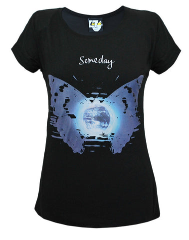 Julian Lennon (Someday Butterfly) Black T-Shirt