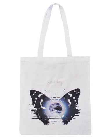 Julian Lennon (Someday Butterfly) White Tote Bag