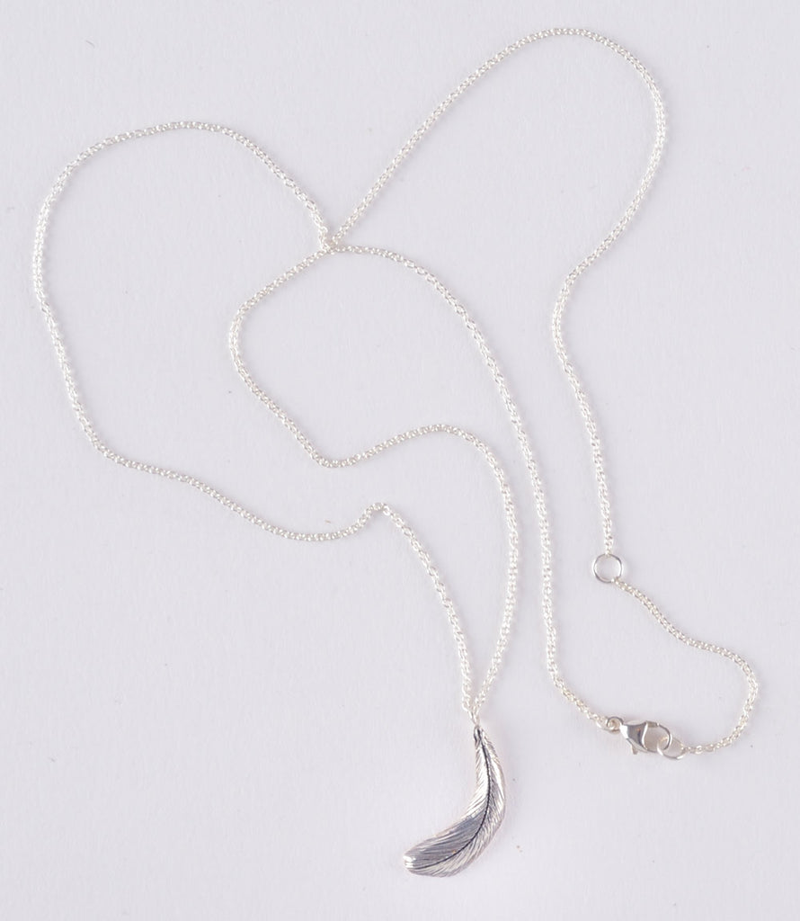 The White Feather Foundation Exclusive Limited Edition Silver Small Feather Necklace