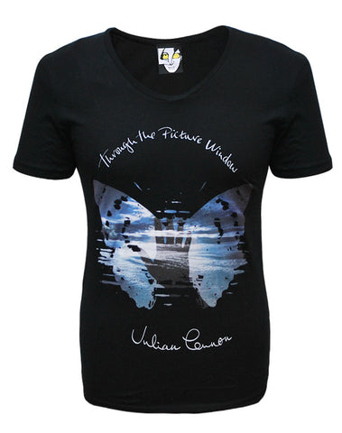 Julian Lennon (Through The Picture Window) Black Scoop Neck T-Shirt