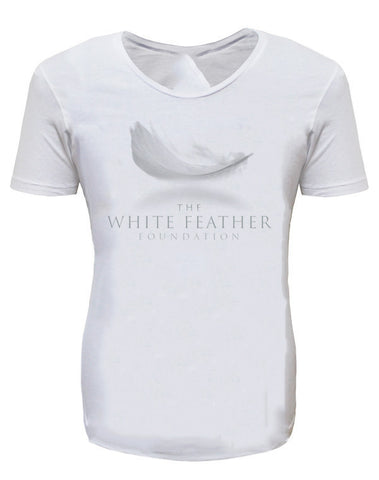 White Feather Foundation White Mens T-Shirt