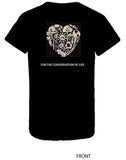 The White Feather Foundation Black Apparel T-Shirt