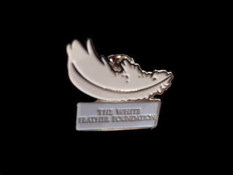 White Feather Foundation Pin