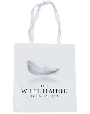 White Feather Foundation (Logo) White Shopper Bag