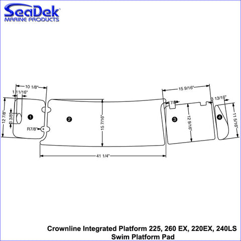 Crownline Integrated Platform 225, 260 EX, 220EX, 240LS