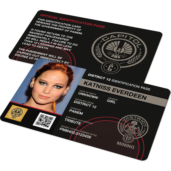 Custom Id Card Hunger Games District Identification