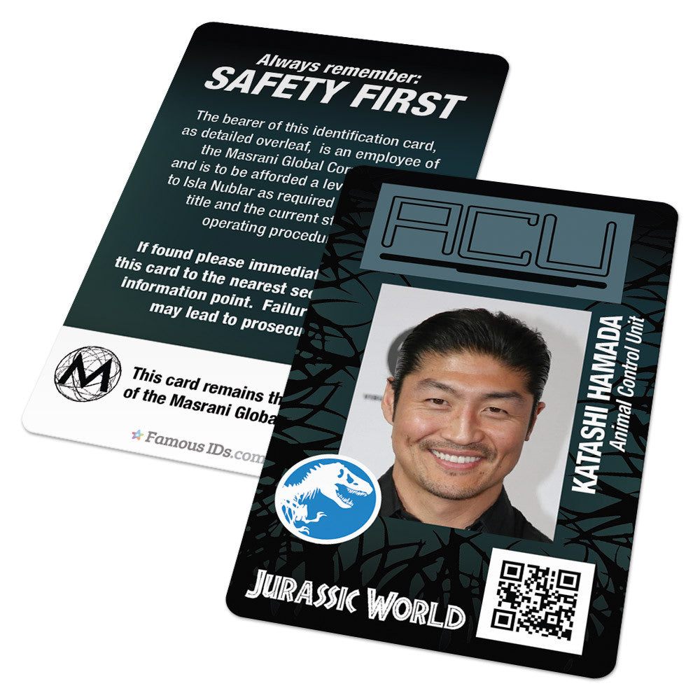 Unit Card Animal From Id Ids - Custom Badges – Jurassic Cards acu Famous And World Control
