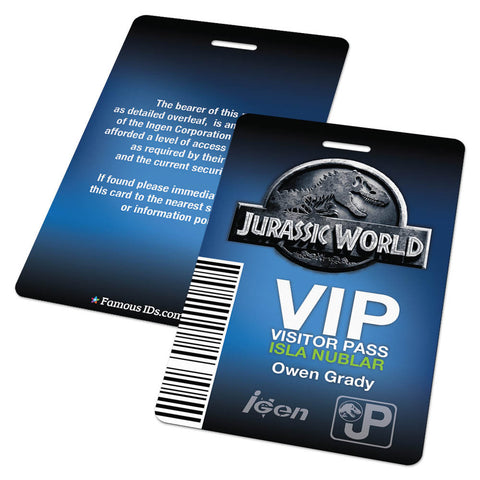 Jurassic World VIP Visitor Pass Badge