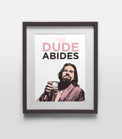 The Dude Abides Large Poster - The Big Lebowski (Jeff Bridges)