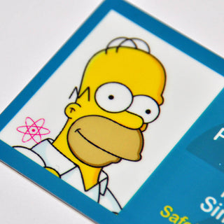 Burns of The Simpsons Springfield Power Plant ID Card Badge Cosplay Costume Name Tag Prop Mr