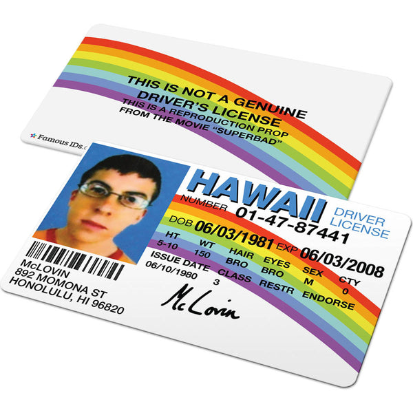 McLovin Hawaii Licence (Superbad)
