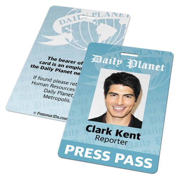 Daily Planet Press Pass (Superman, Clark Kent, Lois Lane)