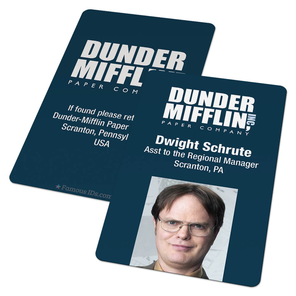 picture regarding Dwight Schrute Id Badge Printable identify Dunder Mifflin (The Place of work)