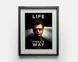 Life Finds a Way Poster Medium - Jurassic Park, Ian Malcolm, Jeff Goldblum